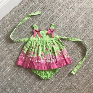 Adorable Strappy Dress with Bloomers 0-3m